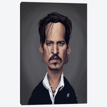 Johnny Depp Canvas Print #RSW288} by Rob Snow Art Print