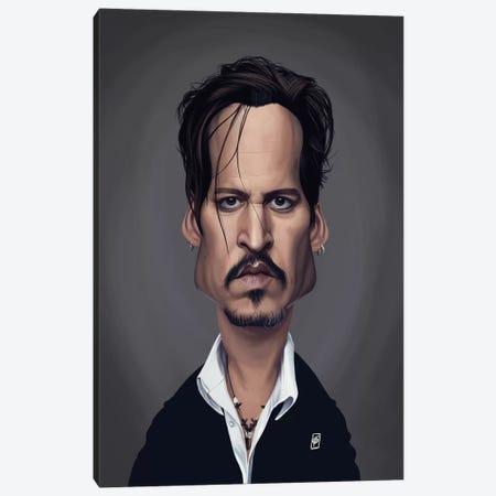 Johnny Depp Canvas Print #RSW288} by Rob Snow Art Print