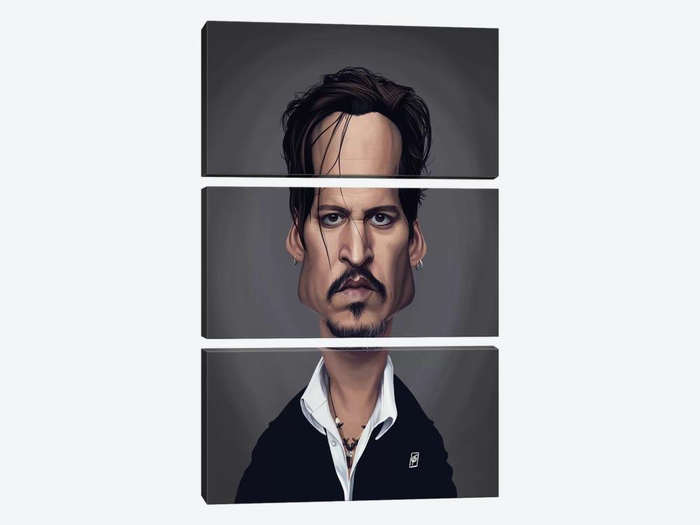 Johnny Depp by Rob Snow 3-piece Canvas Art