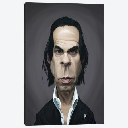 Nick Cave Canvas Print #RSW289} by Rob Snow Art Print