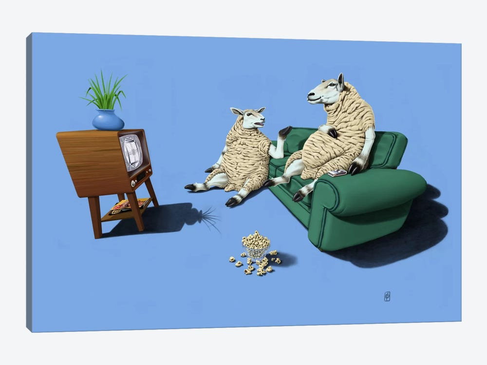 Sheep III by Rob Snow 1-piece Canvas Print