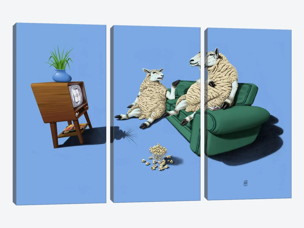 Sheep III by Rob Snow 3-piece Canvas Art Print
