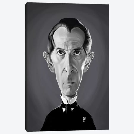 Peter Cushing Canvas Print #RSW290} by Rob Snow Canvas Wall Art