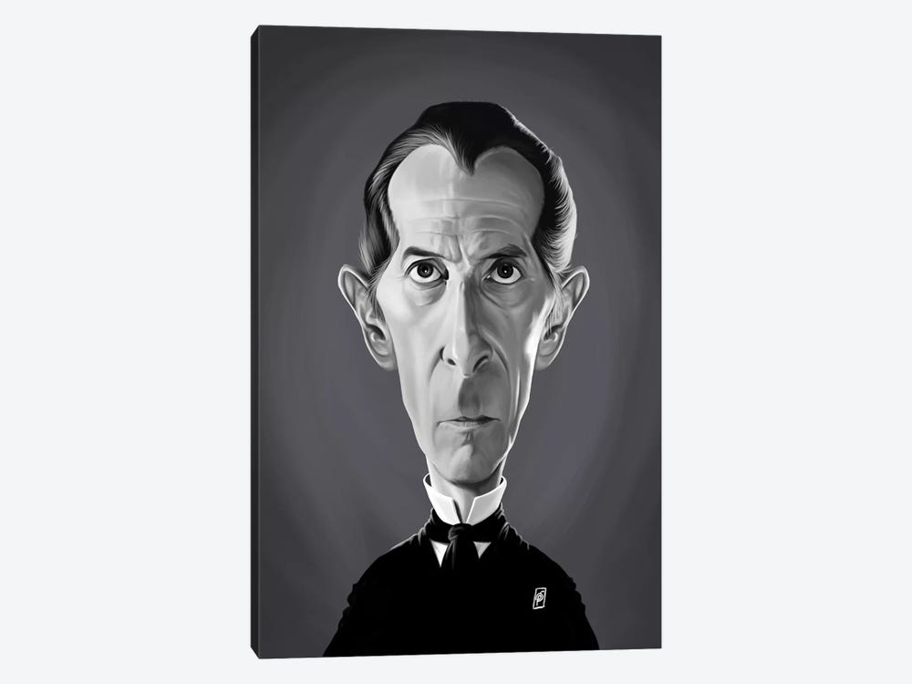 Peter Cushing by Rob Snow 1-piece Canvas Print