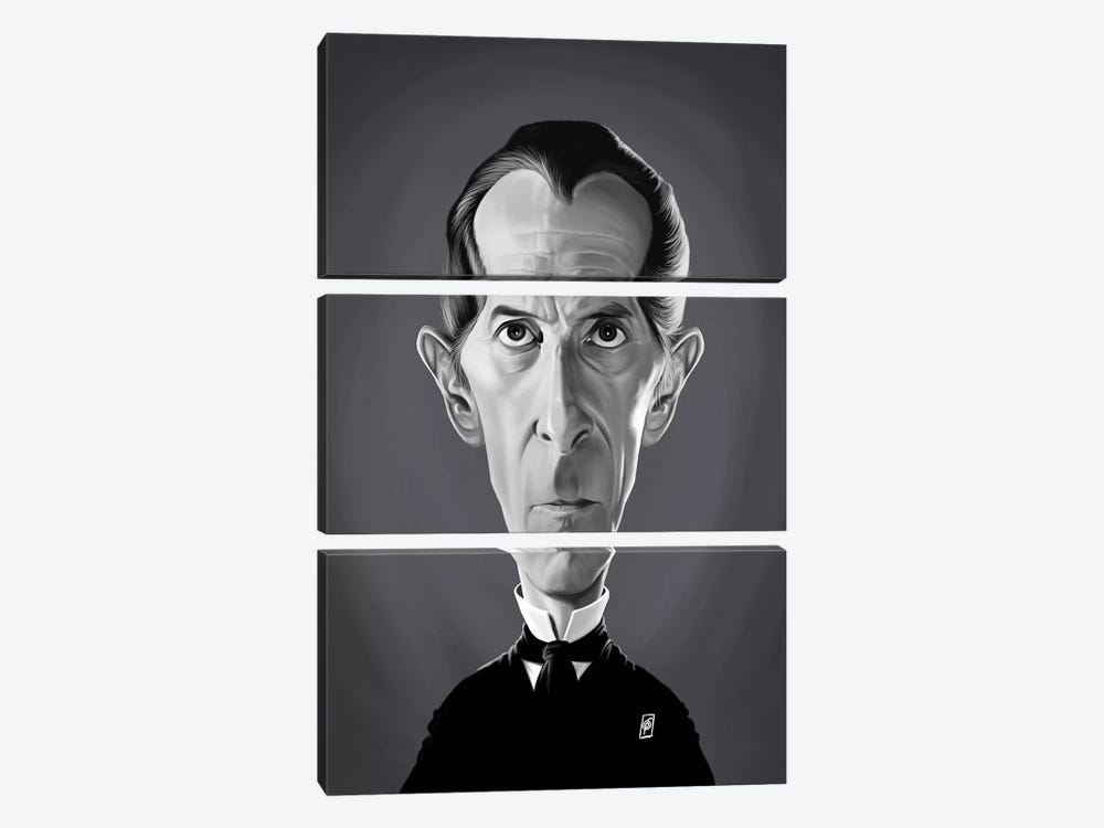 Peter Cushing by Rob Snow 3-piece Canvas Art Print
