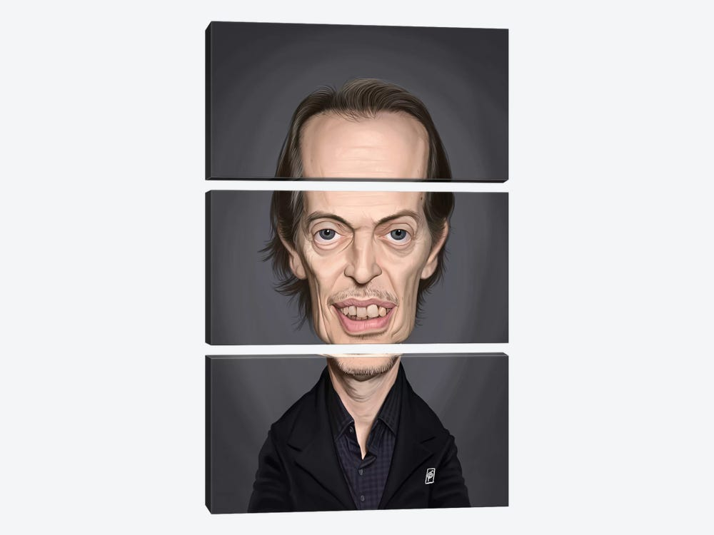 Steve Buscemi by Rob Snow 3-piece Canvas Art