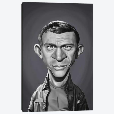 Steve McQueen Canvas Print #RSW292} by Rob Snow Canvas Art