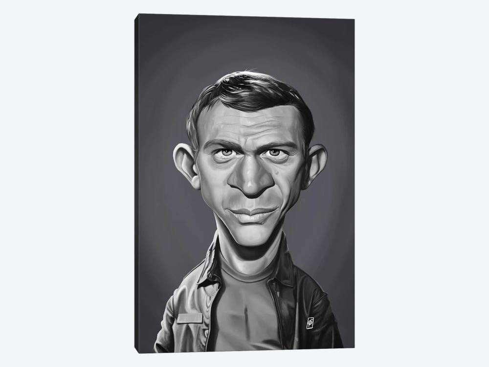 Steve McQueen by Rob Snow 1-piece Canvas Art Print