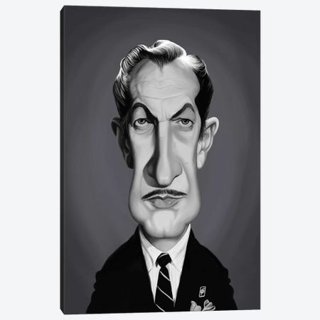 Vincent Price Canvas Print #RSW293} by Rob Snow Canvas Artwork