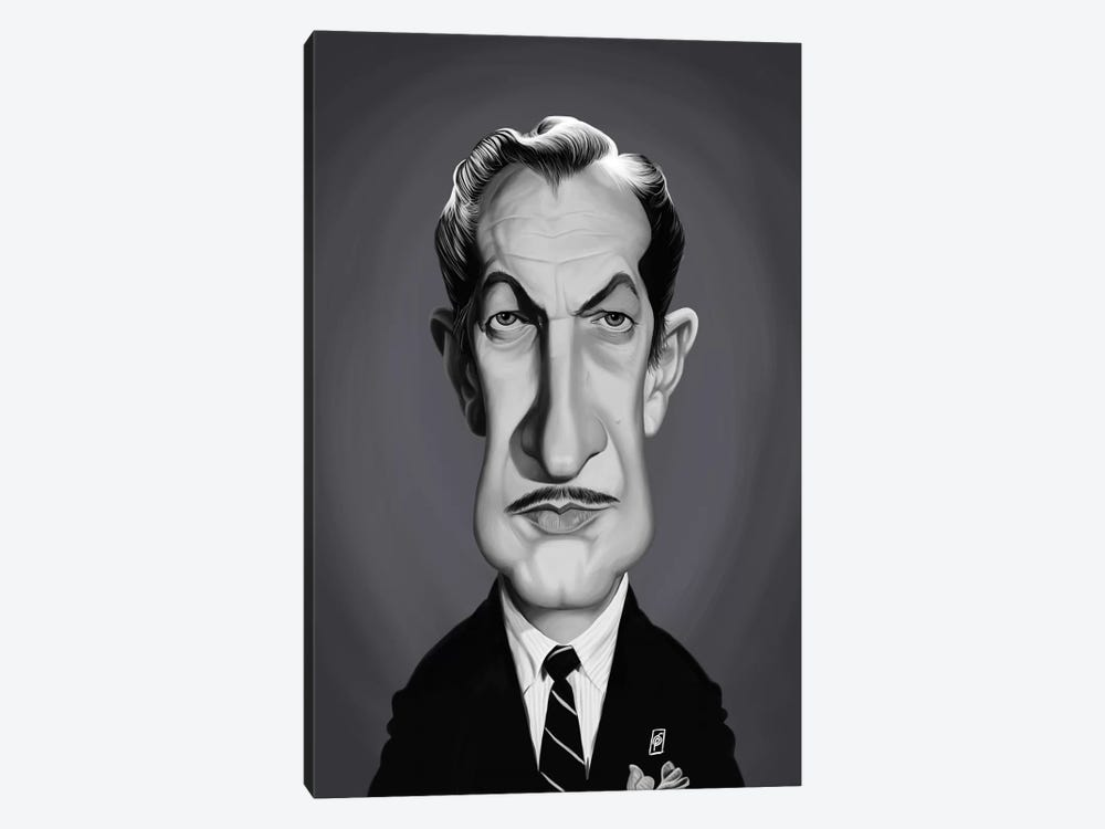 Vincent Price by Rob Snow 1-piece Canvas Artwork