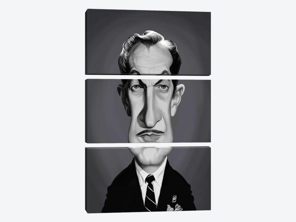 Vincent Price by Rob Snow 3-piece Canvas Artwork