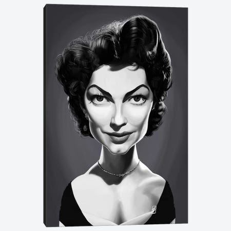 Ava Gardner  Canvas Print #RSW294} by Rob Snow Canvas Print