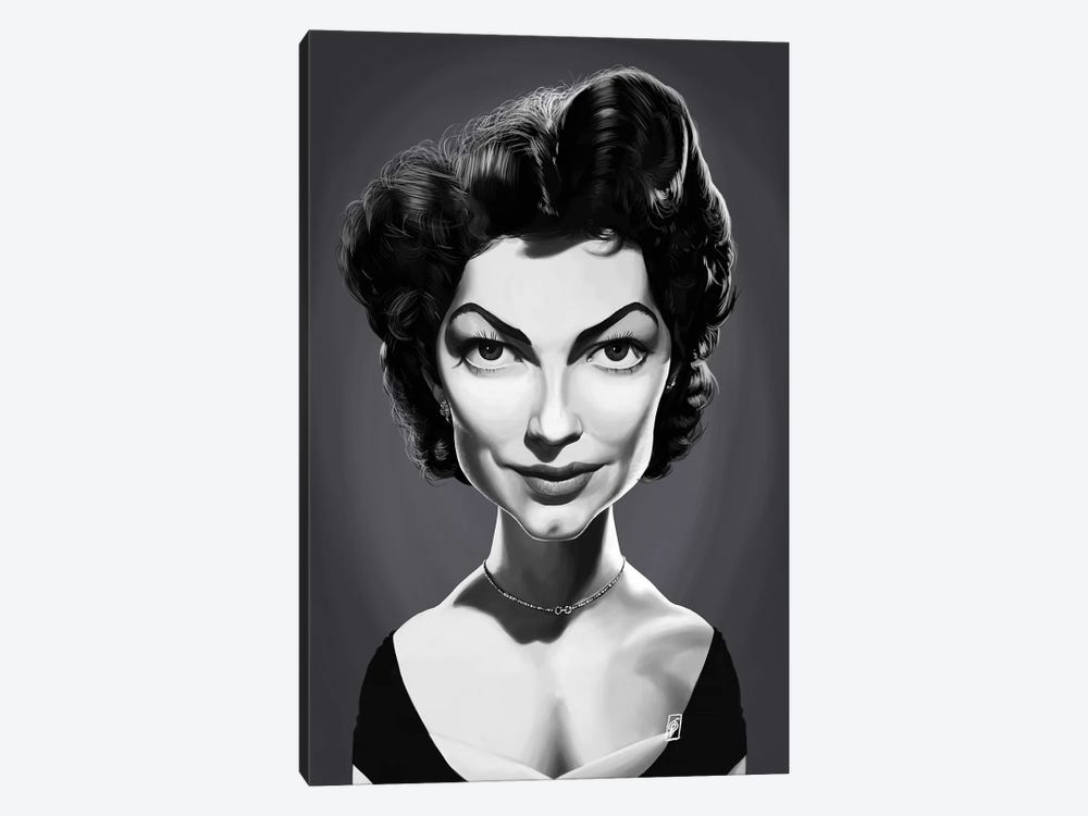 Ava Gardner  by Rob Snow 1-piece Art Print