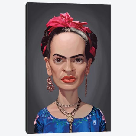 Frida Kahlo  Canvas Print #RSW297} by Rob Snow Art Print