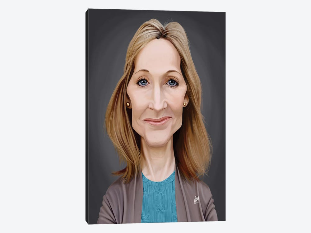 J.K. Rowling  by Rob Snow 1-piece Canvas Art Print