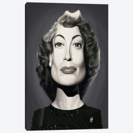 Joan Crawford  Canvas Print #RSW299} by Rob Snow Canvas Art
