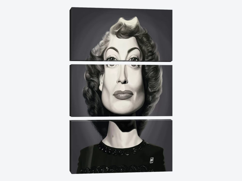 Joan Crawford  by Rob Snow 3-piece Canvas Art