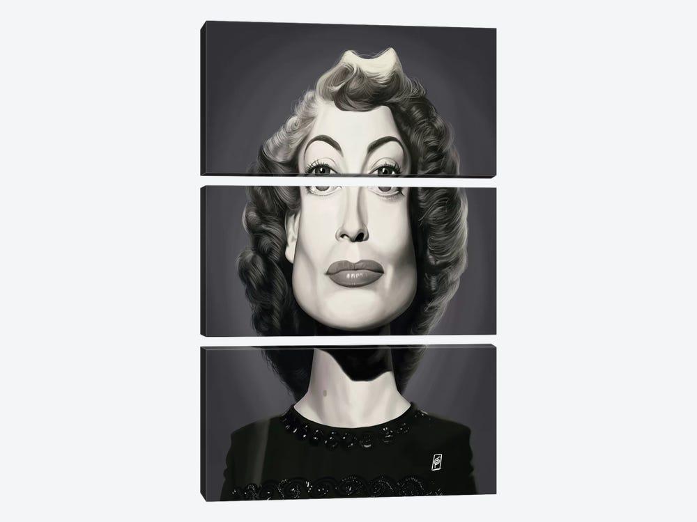 Joan Crawford  by Rob Snow 3-piece Canvas Art