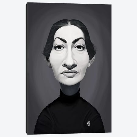 Maria Callas  Canvas Print #RSW300} by Rob Snow Canvas Artwork