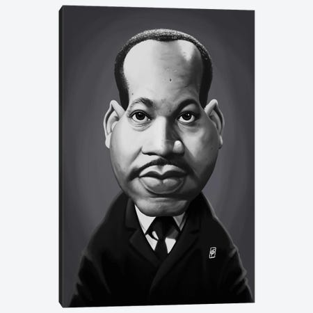 Martin Luther King  Canvas Print #RSW301} by Rob Snow Canvas Art