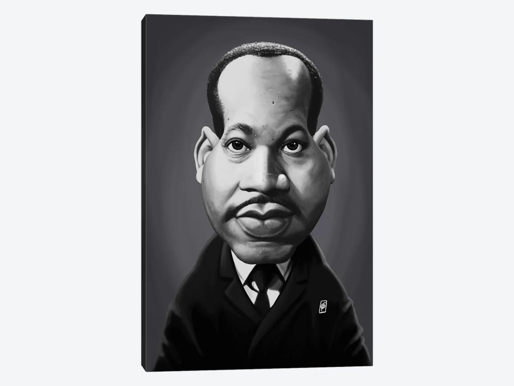 Martin Luther King  by Rob Snow 1-piece Canvas Art