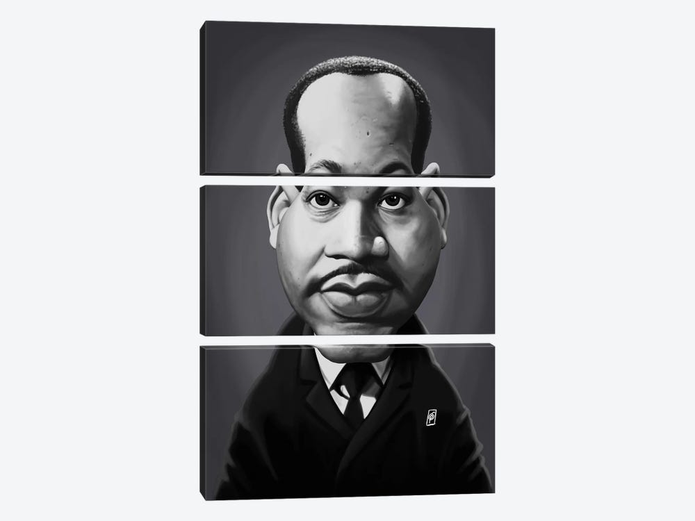 Martin Luther King  by Rob Snow 3-piece Canvas Artwork