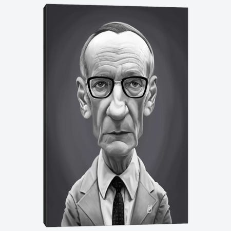 William Burroughs  Canvas Print #RSW302} by Rob Snow Canvas Artwork