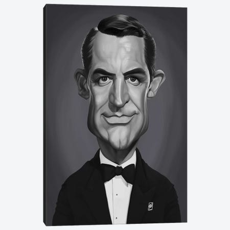 Cary Grant Canvas Print #RSW303} by Rob Snow Canvas Art