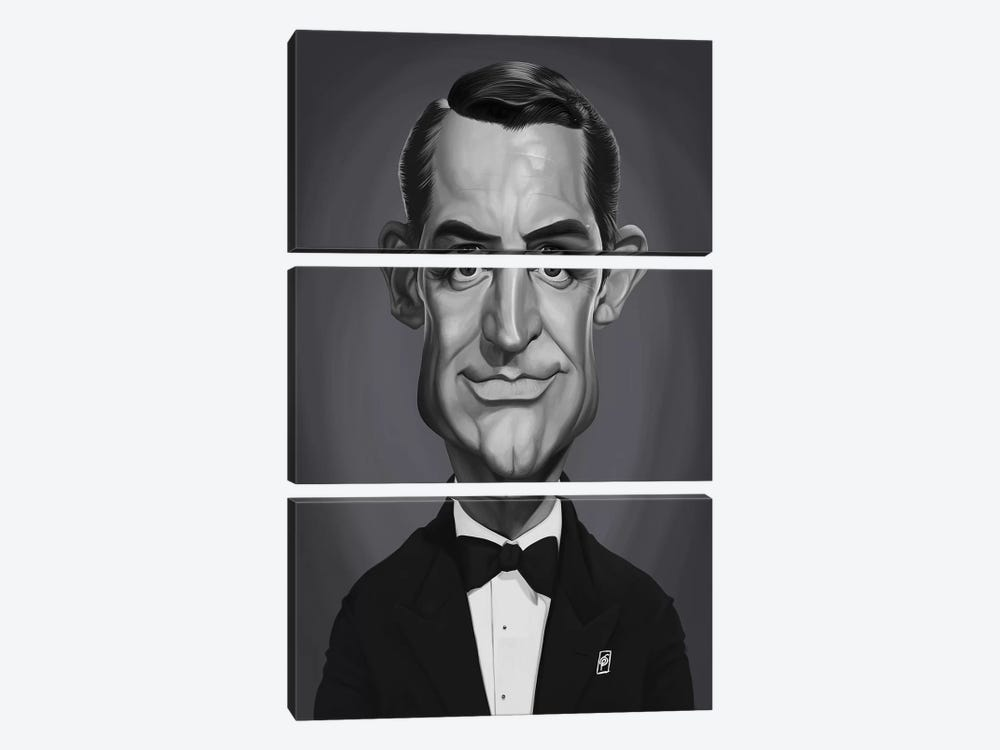 Cary Grant by Rob Snow 3-piece Canvas Art