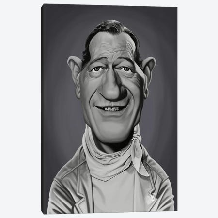 John Wayne Canvas Print #RSW305} by Rob Snow Canvas Print