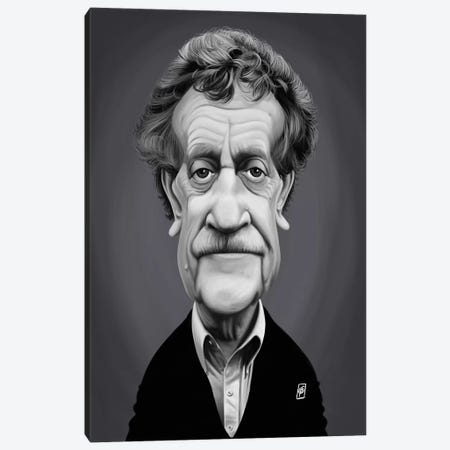 Kurt Vonnegut Canvas Print #RSW306} by Rob Snow Canvas Art Print