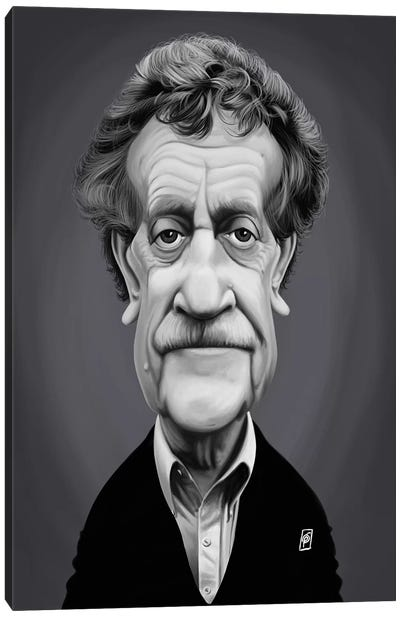 Kurt Vonnegut Canvas Art Print