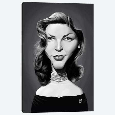 Lauren Bacall 3-Piece Canvas #RSW307} by Rob Snow Canvas Art Print