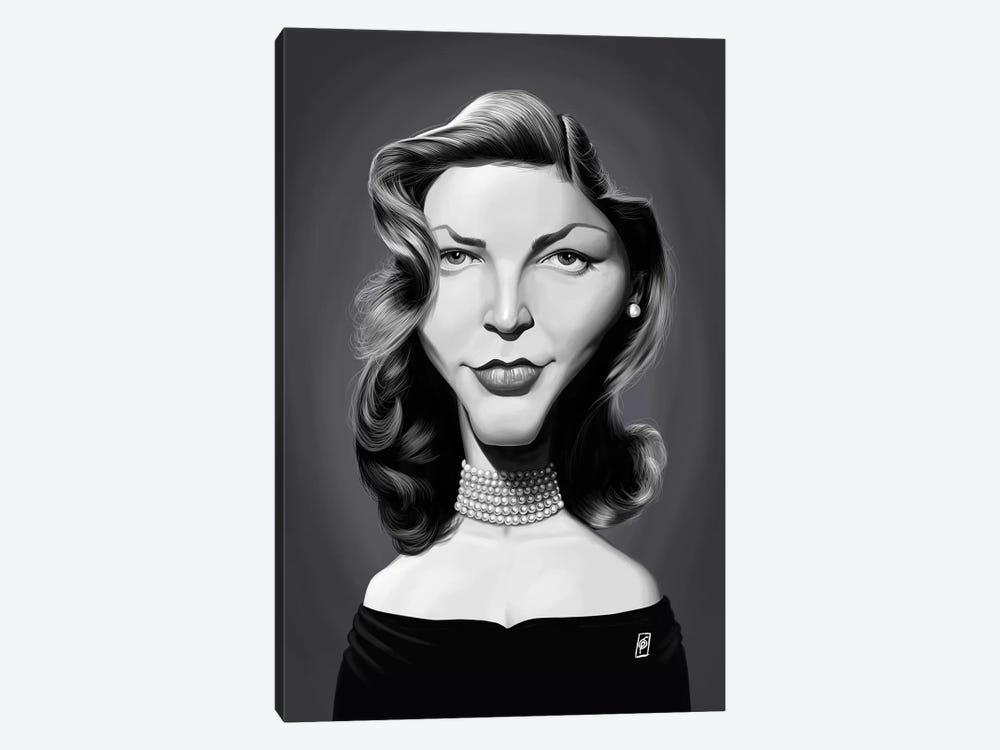 Lauren Bacall by Rob Snow 1-piece Canvas Artwork