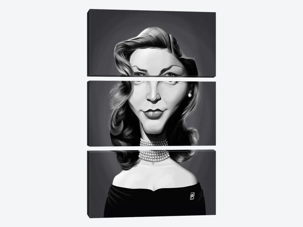Lauren Bacall by Rob Snow 3-piece Canvas Artwork