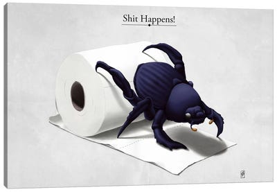 Shit Happens! Canvas Art Print