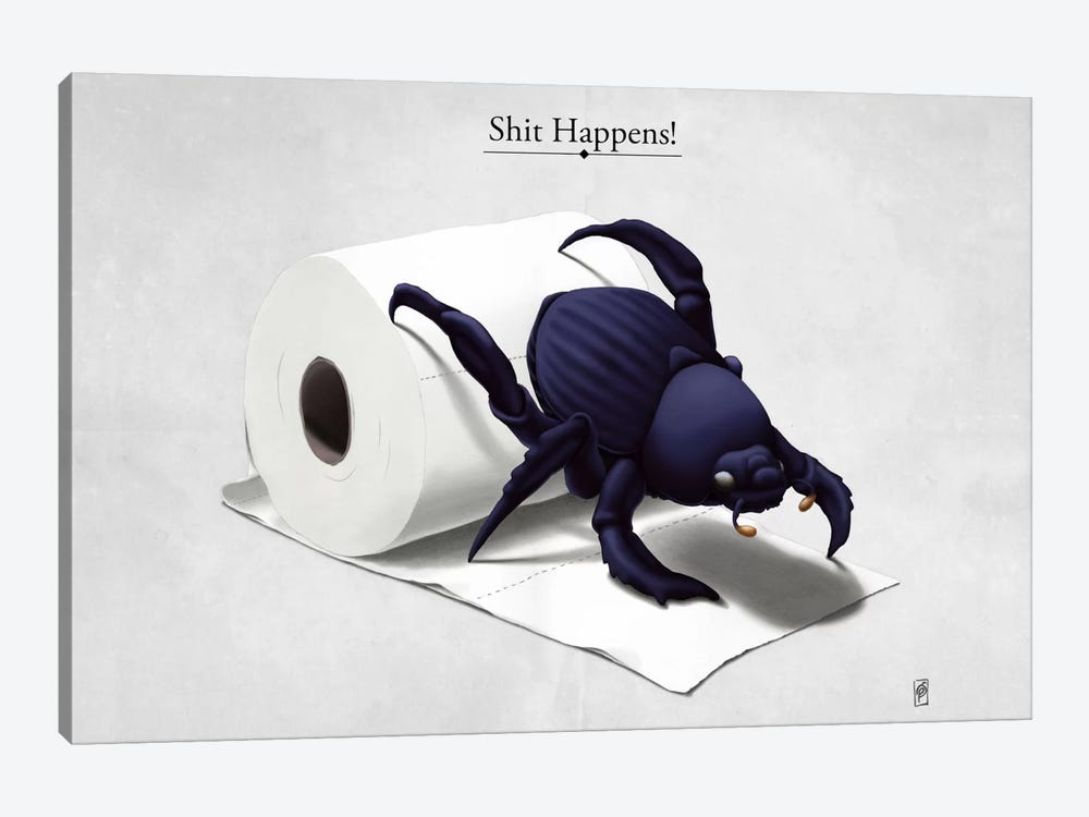 Shit Happens! by Rob Snow 1-piece Canvas Art
