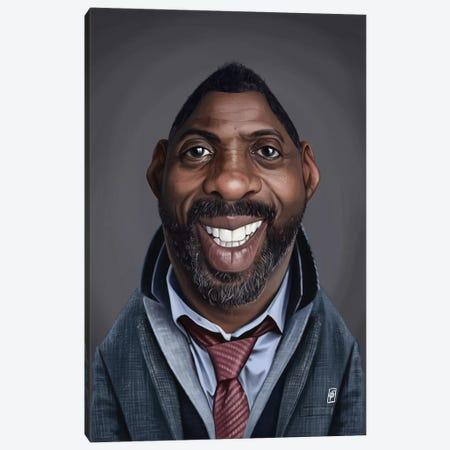 Idris Elba Canvas Print #RSW321} by Rob Snow Canvas Wall Art