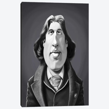 Oscar Wilde Canvas Print #RSW323} by Rob Snow Canvas Wall Art