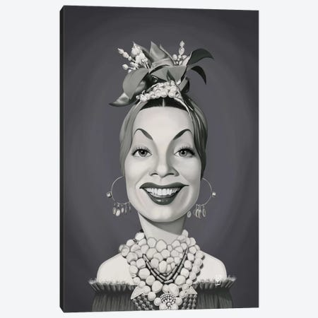 Carmen Miranda Canvas Print #RSW324} by Rob Snow Art Print