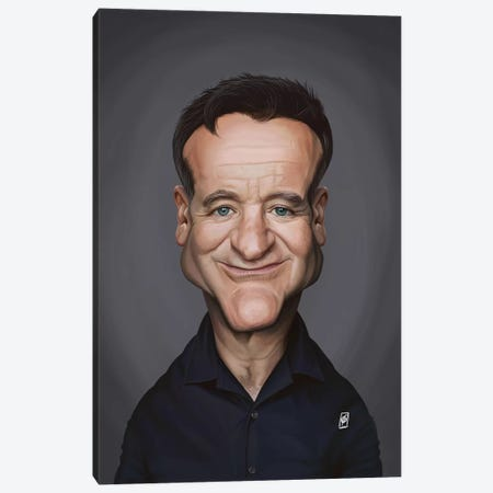 Robin Williams Canvas Print #RSW326} by Rob Snow Art Print