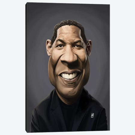 Denzel Washington Canvas Print #RSW328} by Rob Snow Canvas Artwork