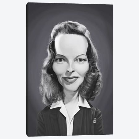 Katharine Hepburn Canvas Print #RSW331} by Rob Snow Canvas Print