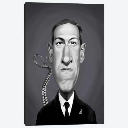 H P Lovecraft Canvas Print #RSW332} by Rob Snow Art Print
