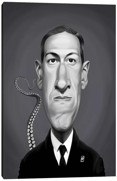 H P Lovecraft Canvas Art Print
