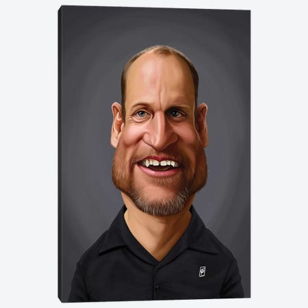 Woody Harrelson Canvas Print #RSW334} by Rob Snow Canvas Wall Art