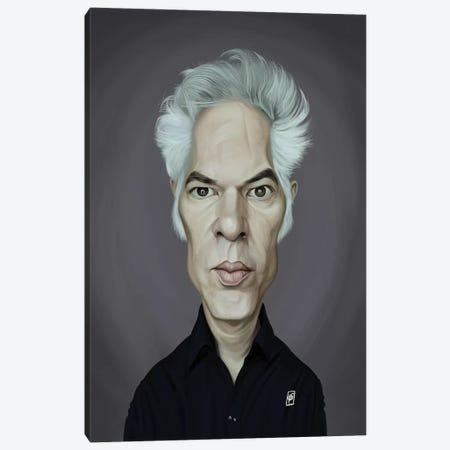 Jim Jarmusch Canvas Print #RSW337} by Rob Snow Canvas Wall Art