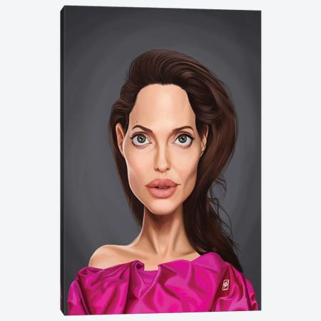 Angelina Jolie Canvas Print #RSW338} by Rob Snow Canvas Art Print