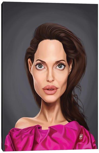 Angelina Jolie Canvas Art Print