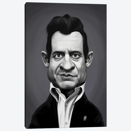 Johnny Cash Canvas Print #RSW340} by Rob Snow Canvas Wall Art